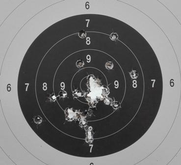 Terč s nastřelování mířidel